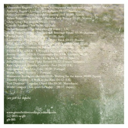 VA - Green Field Recordings - World Listening Day 2015 - Water - 2