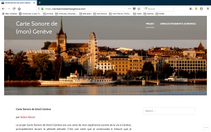 Carte Sonore de (mon) Genève 1